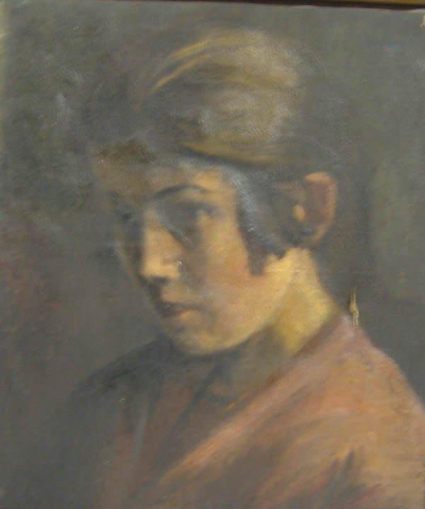 15: 19th Century Portrait, oil on canvas