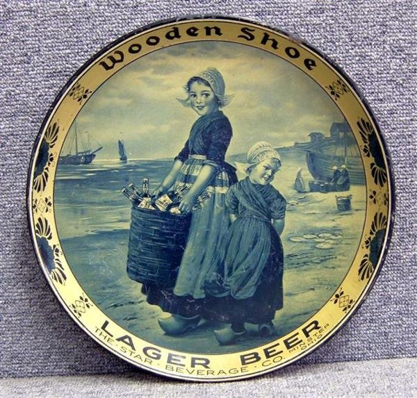 26: Beer tray, Woodend Shoe Label