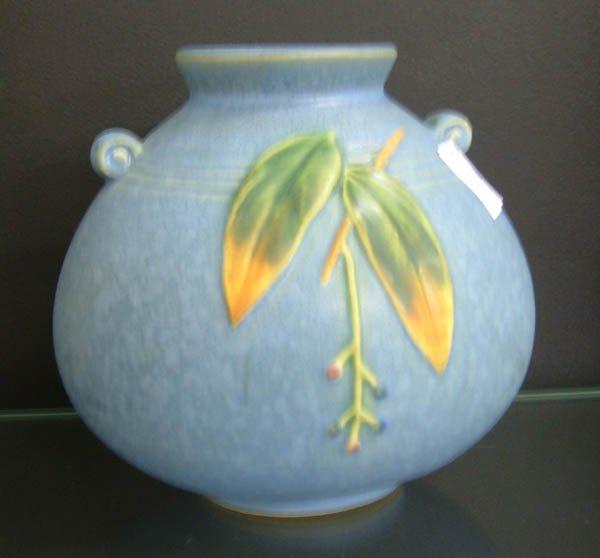 706: Weller blue Cornish vase