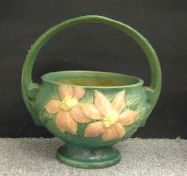 713: Roseville green Clematis basket