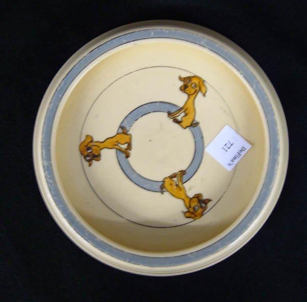 721: Roseville juvenile plate w/ puppy dog