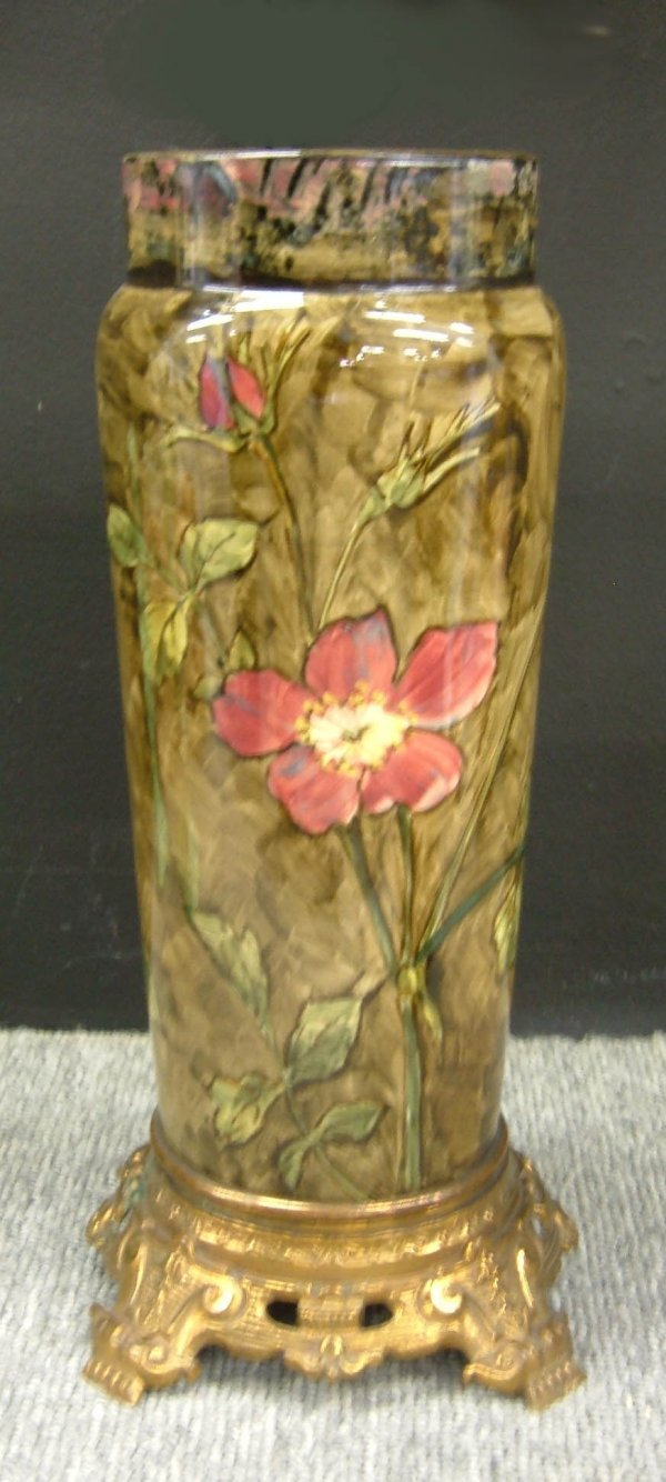 801: Arts and Crafts Pauline Pottery lamp base