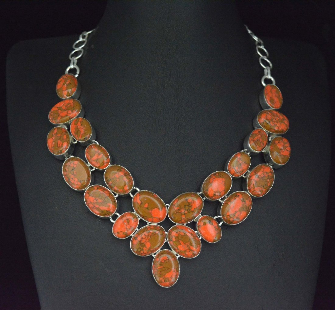 Awesome Necklace With Copper Turquoise