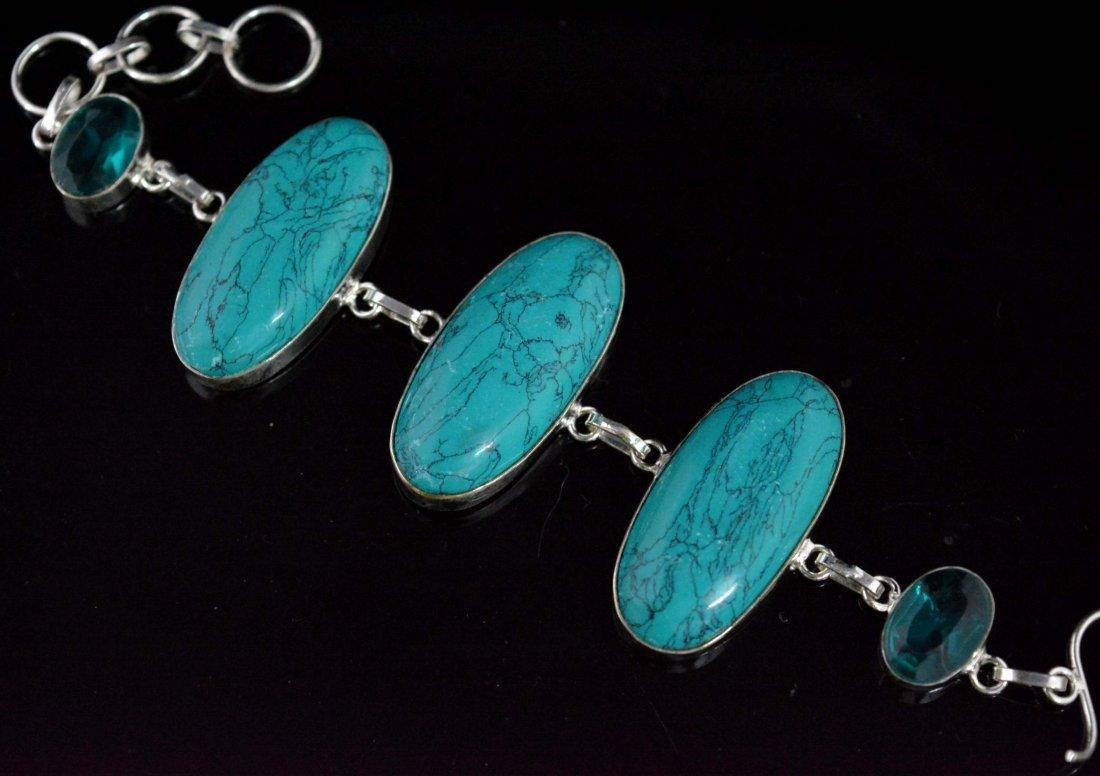 Awesome Bracelet With Copper Turquoise