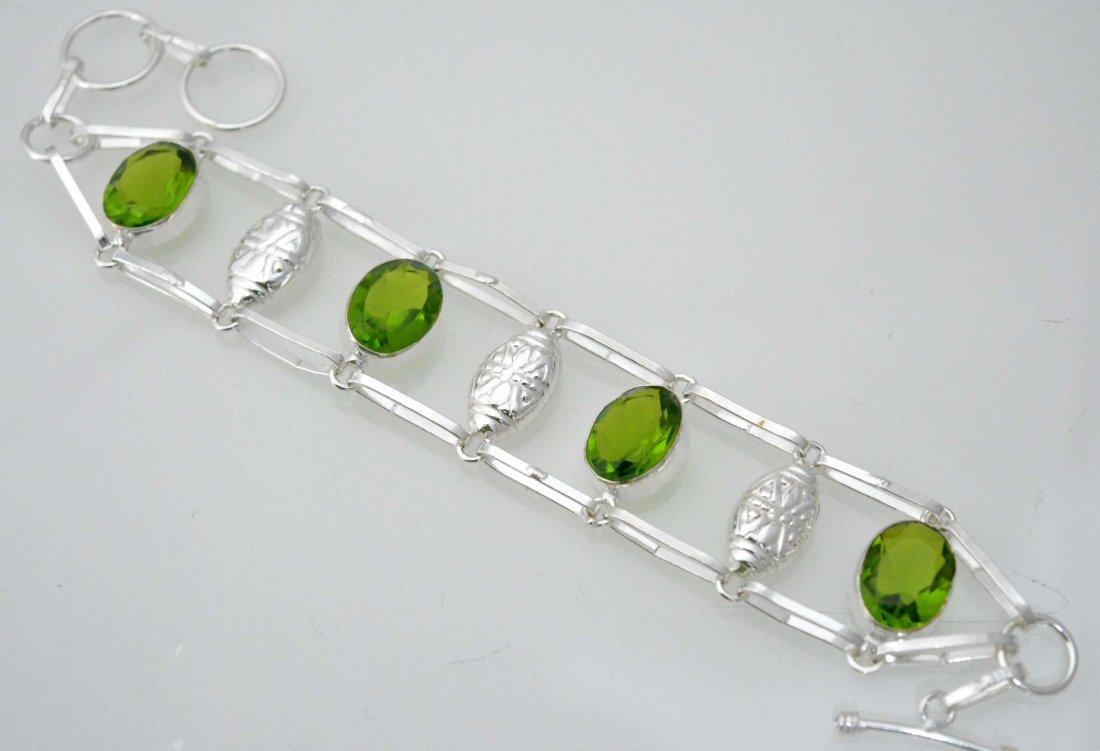 Charm Bracelet With Green Quartz