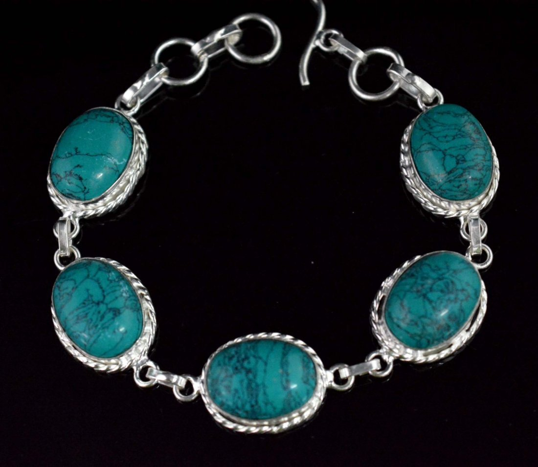 Charm Bracelet With Copper Turquoise