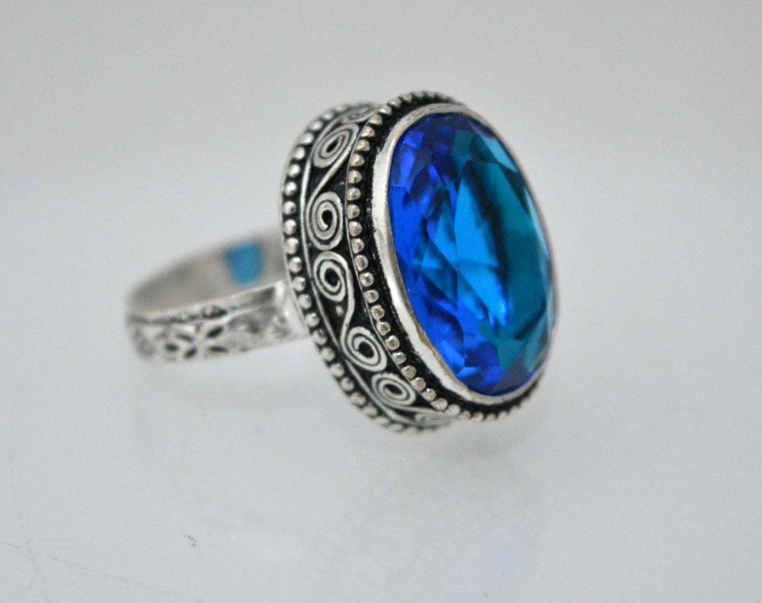 Unique Vintage Look Designer Ring Size 9.5  With Quartz