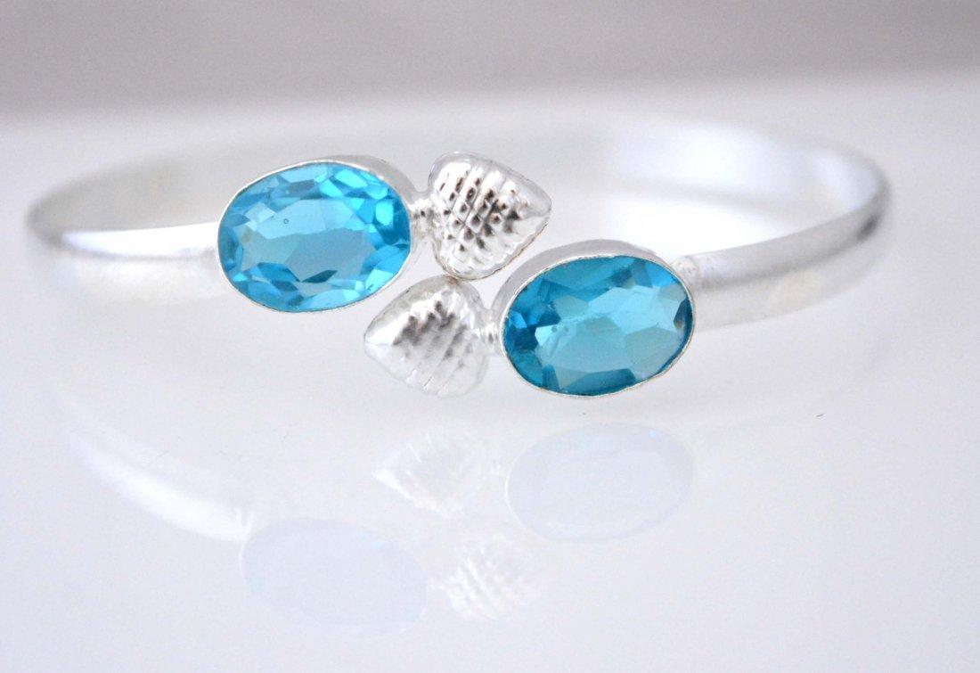 Lovely Look Blue Topaz Cuff Bracelet