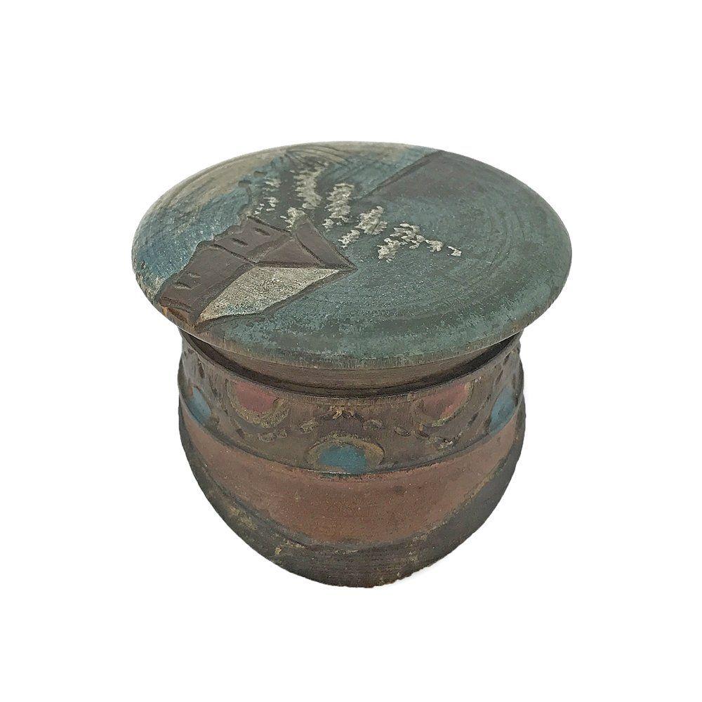 Russian cap-shaped folk art box, ca. 1900
