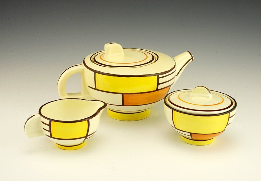 Eva Zeisel, a Schramberg part Tea Set, ca1929-35
