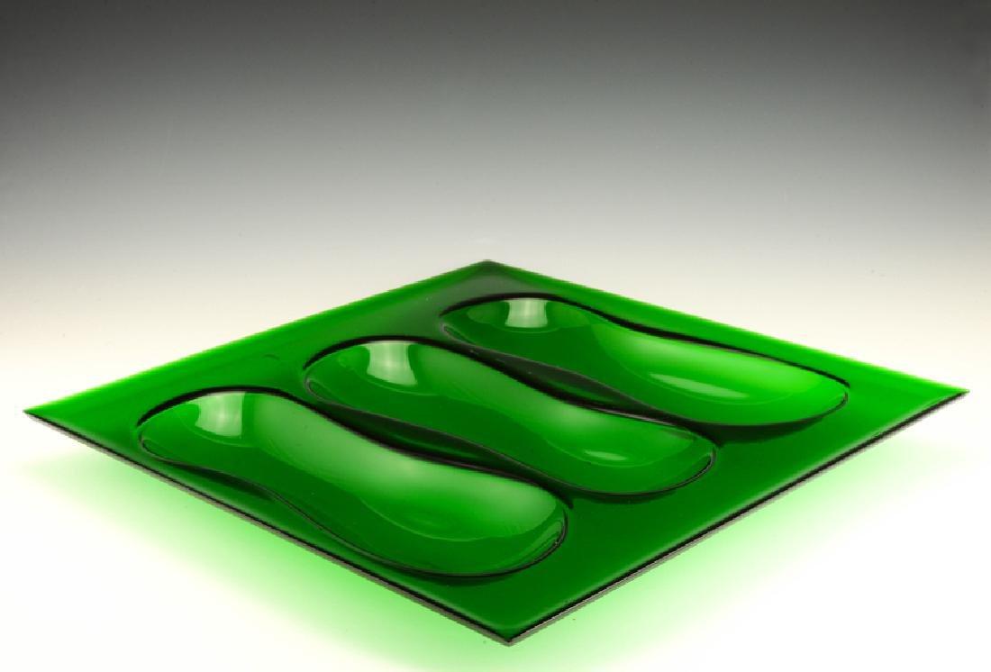 Eva Zeisel, Rare Cloverware Gourd Tray in Green