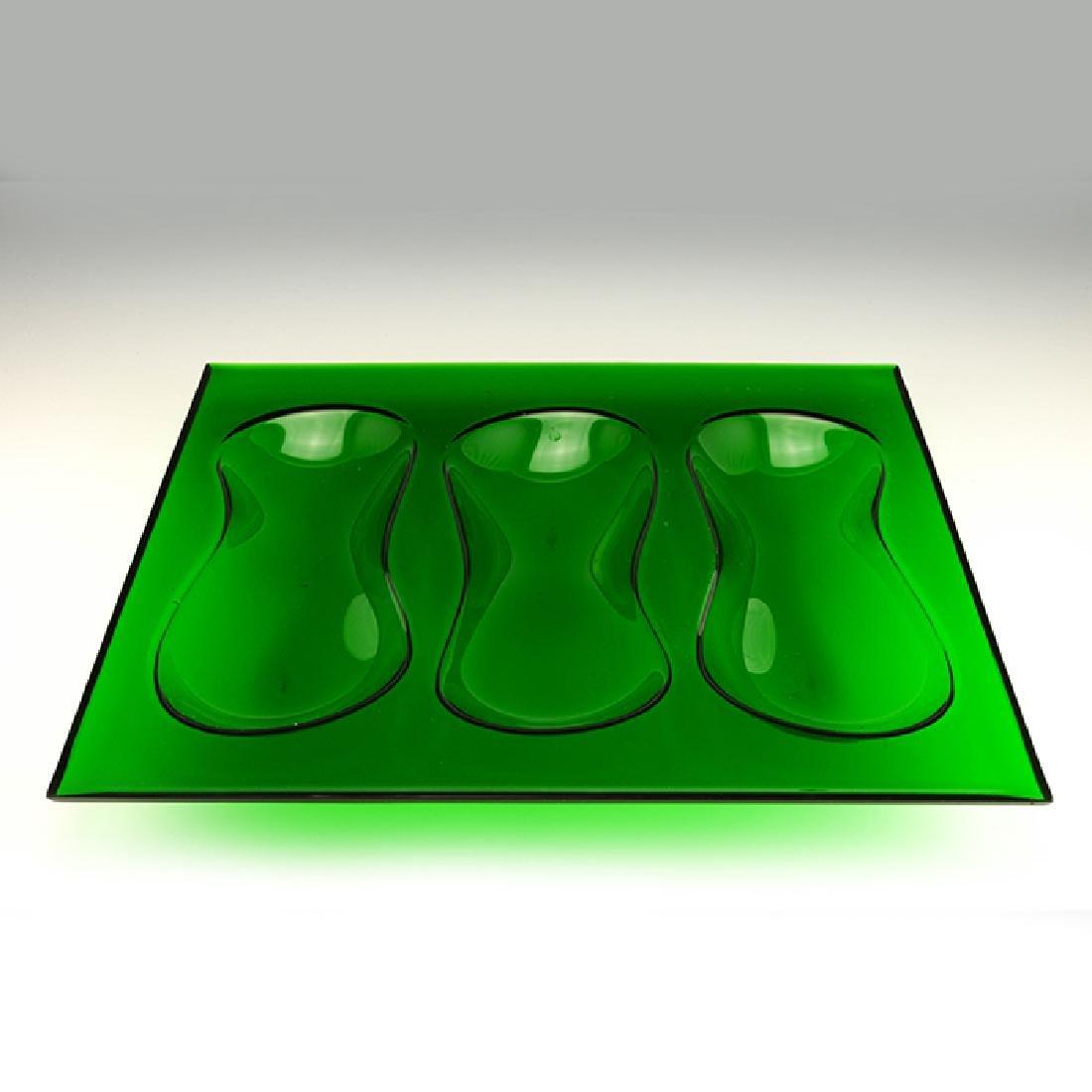 Eva Zeisel, Rare Cloverware Gourd Tray in Green - 2