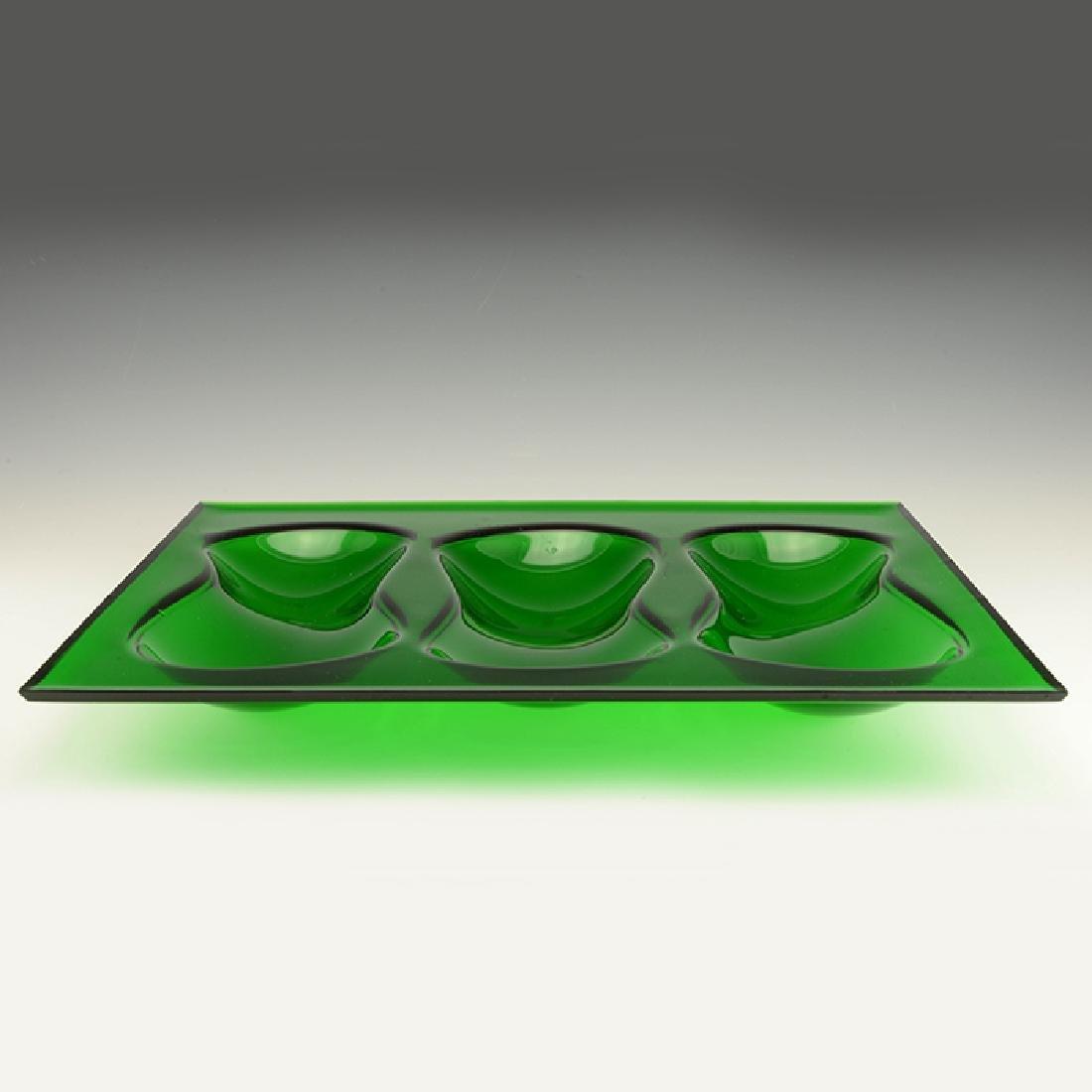 Eva Zeisel, Rare Cloverware Gourd Tray in Green - 3