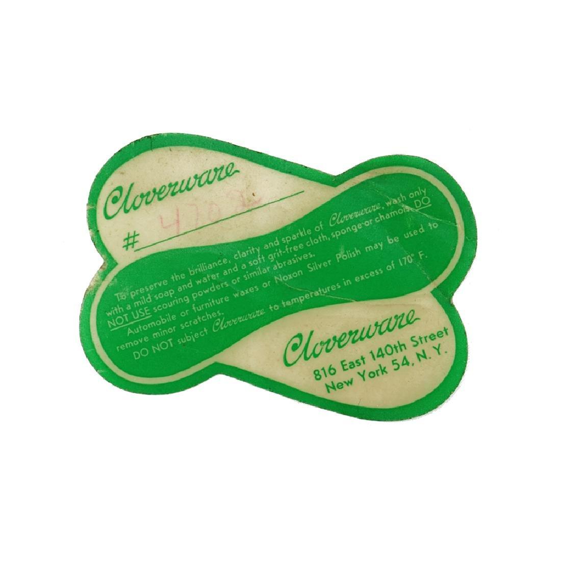 A Rare Cloverware Trade Label