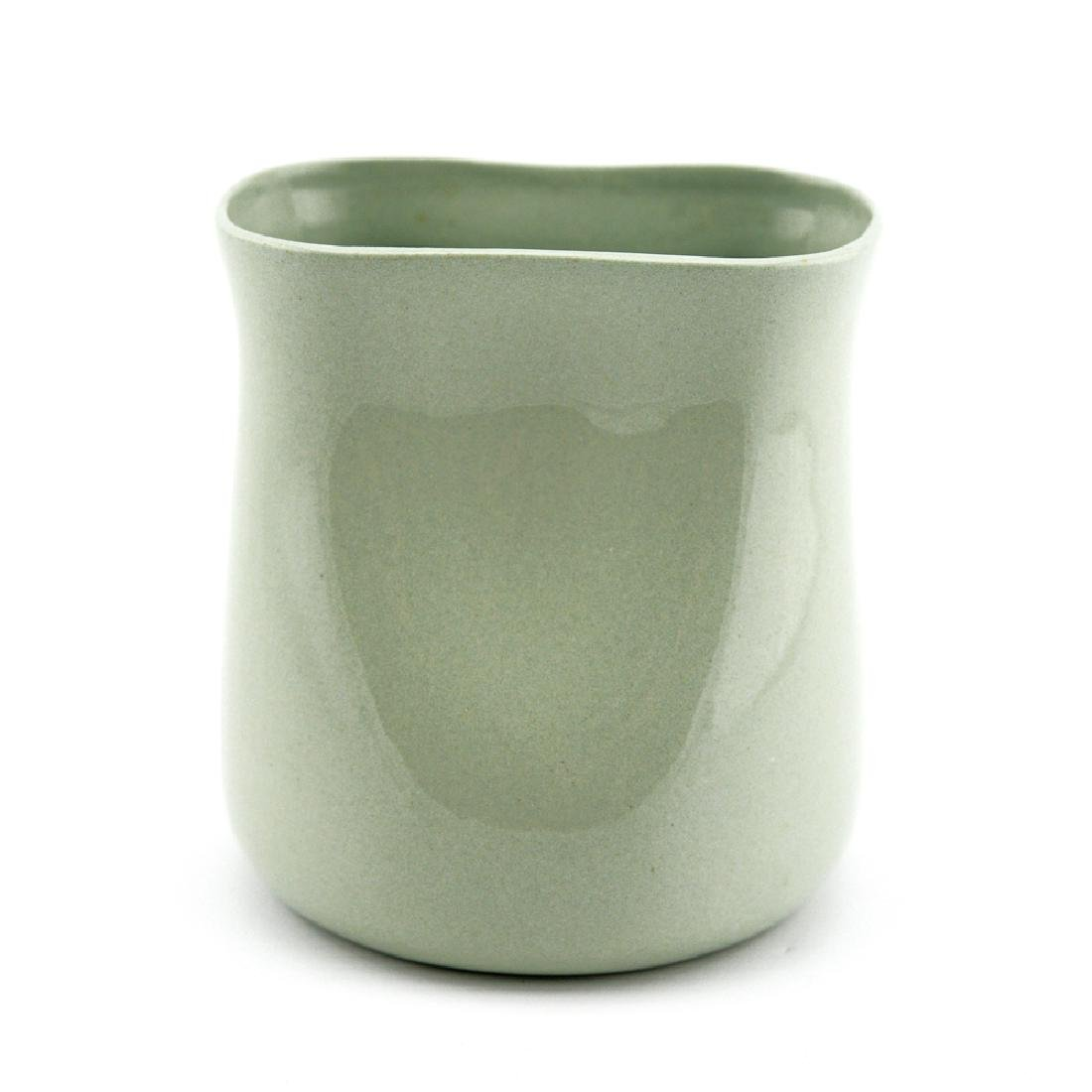 Eva Zeisel, Rare Riverside Vase in Avocado Green