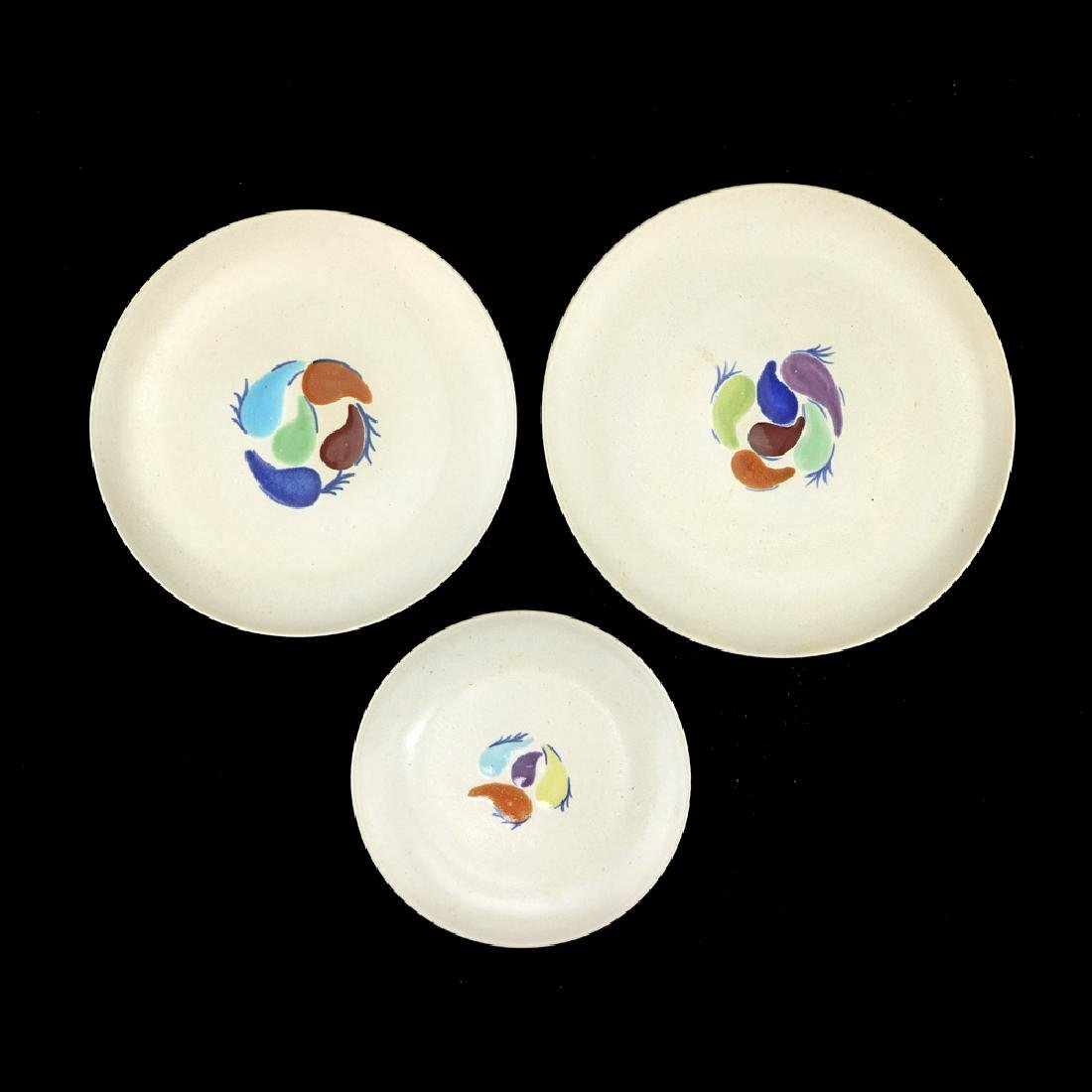 Eva Zeisel, 3 Rare Monmouth Feathered Friends Plates