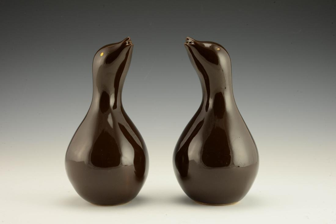 Rare Pair of Zeisel Hollydale Bird-Form Shakers