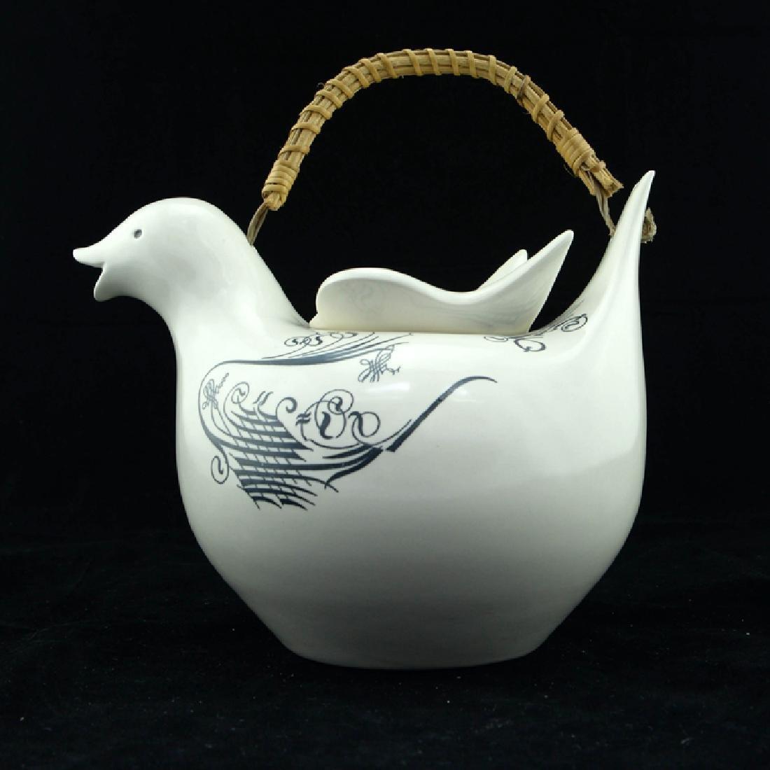Zeisel Schmid Lyric Bird-Form Teapot - 3