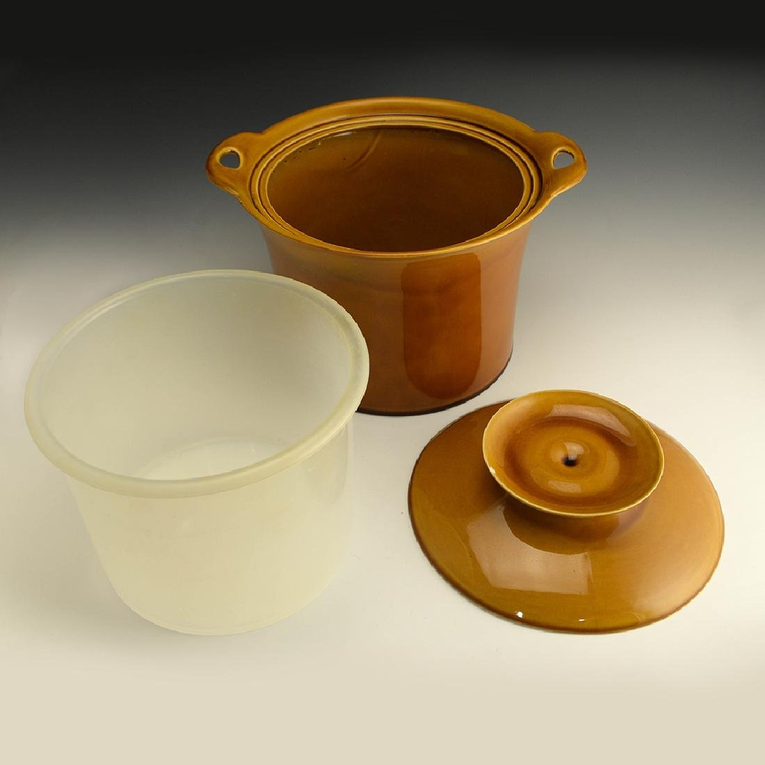 Very Rare Zeisel Hyalyn Gold Ice Bucket - 4