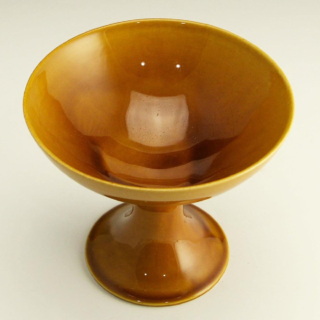 Rare Zeisel Hyalyn Gold Footed Bowl - 3