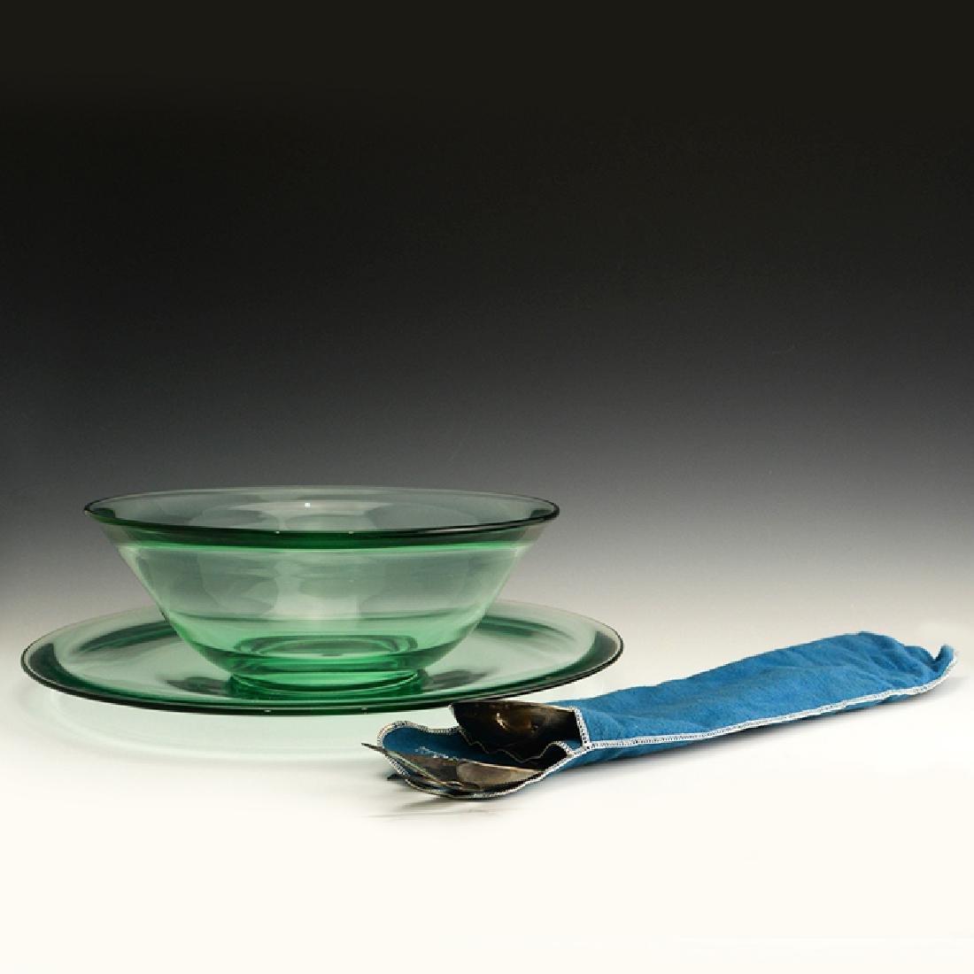 Very Rare Zeisel Heisey Glass Salad Set, original box