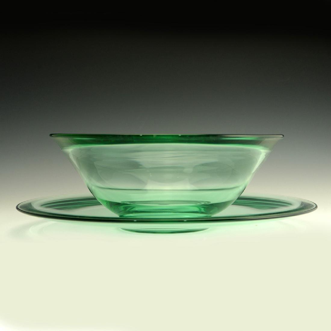 Very Rare Zeisel Heisey Glass Salad Set, original box - 2