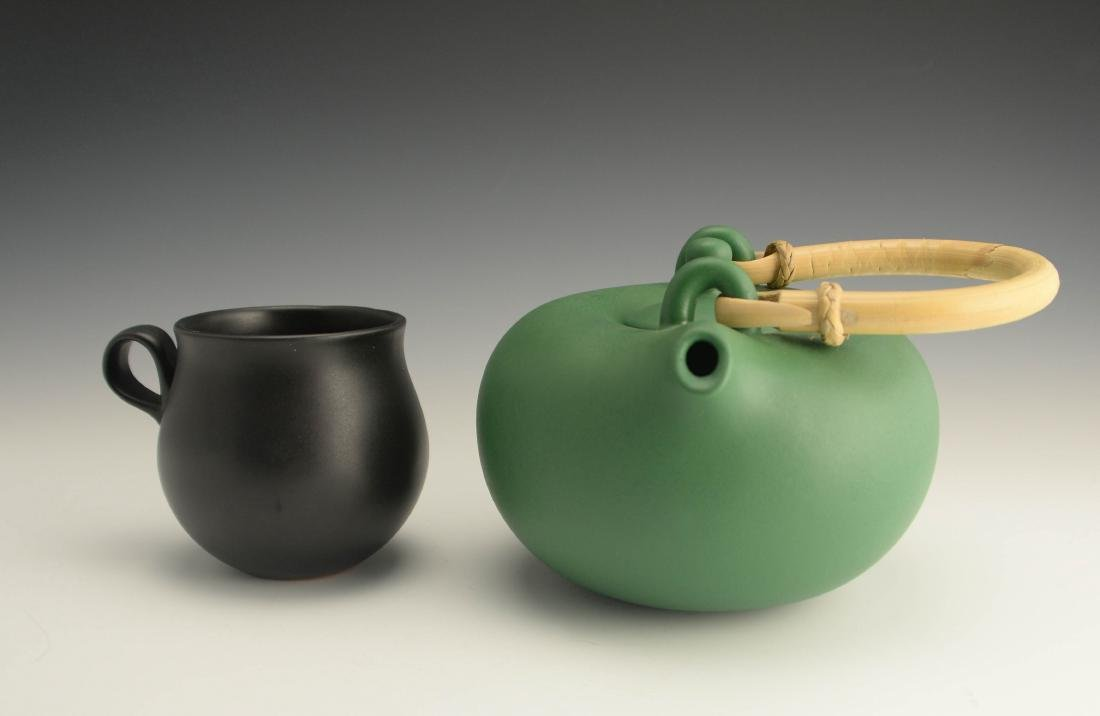 Zeisel OC Terracotta Teapot & Cup (1999)