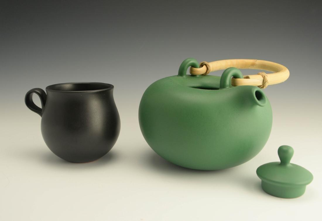 Zeisel OC Terracotta Teapot & Cup (1999) - 3