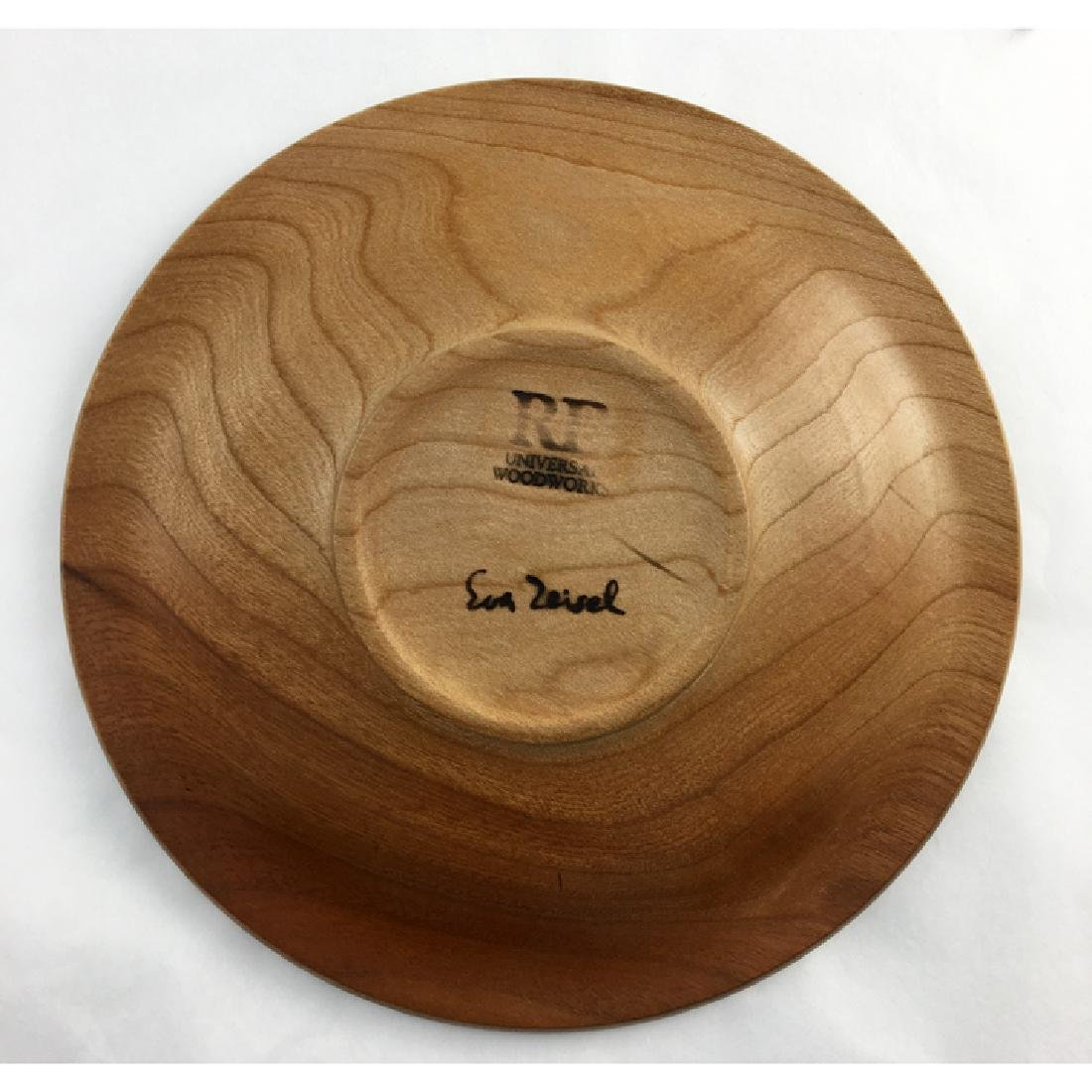 Zeisel Orange Chicken Turned Wood Plate - 2