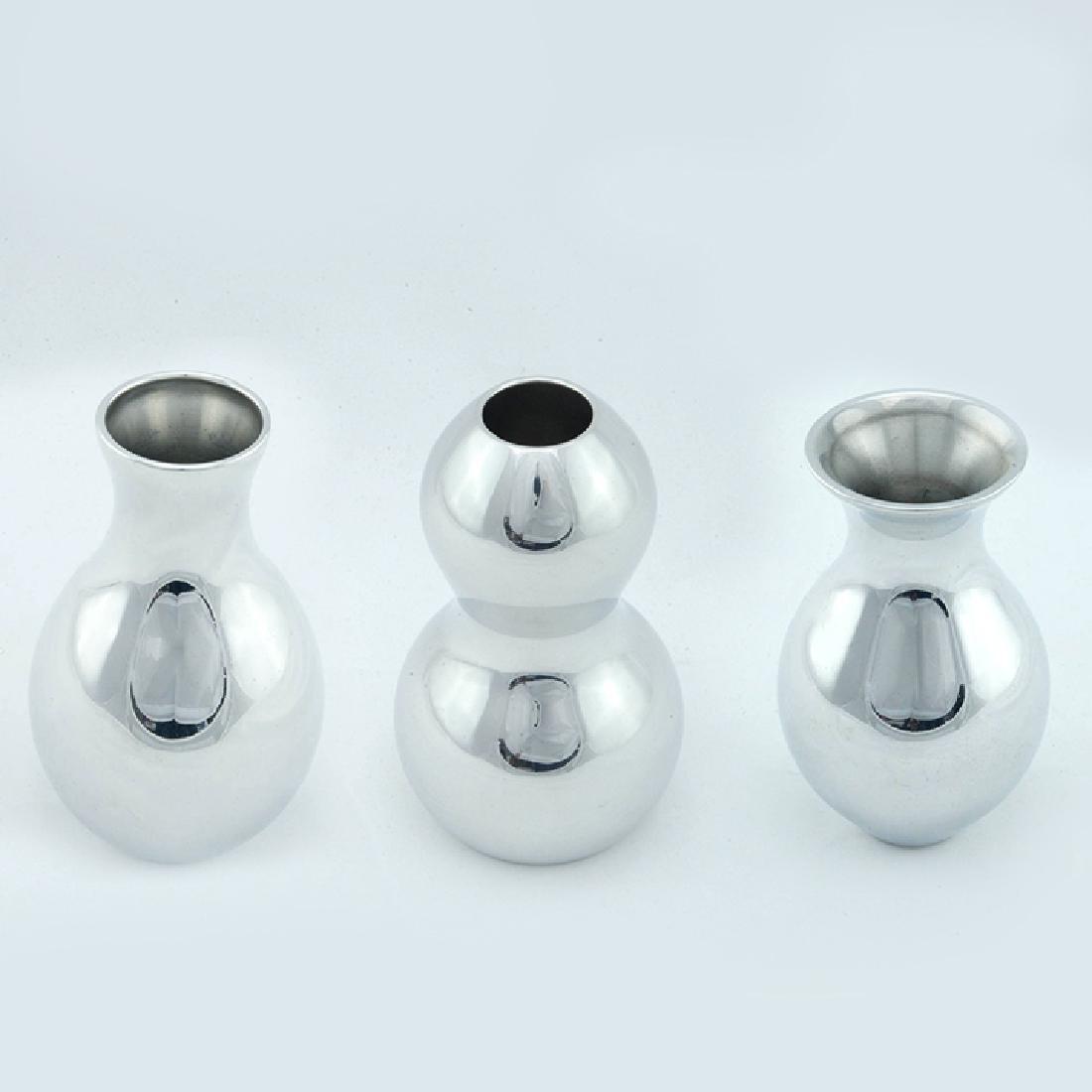 Set of 3 Zeisel Nambe Bud Vases
