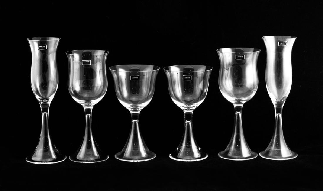 6 Zeisel Nambe Crystal Goblets, 3 sizes (2008)