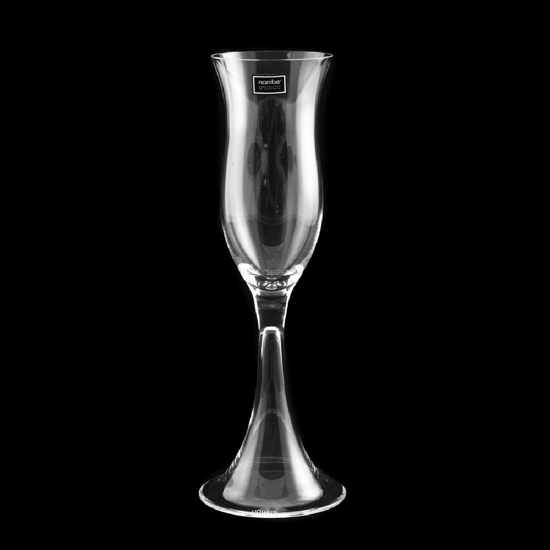 6 Zeisel Nambe Crystal Goblets, 3 sizes (2008) - 4