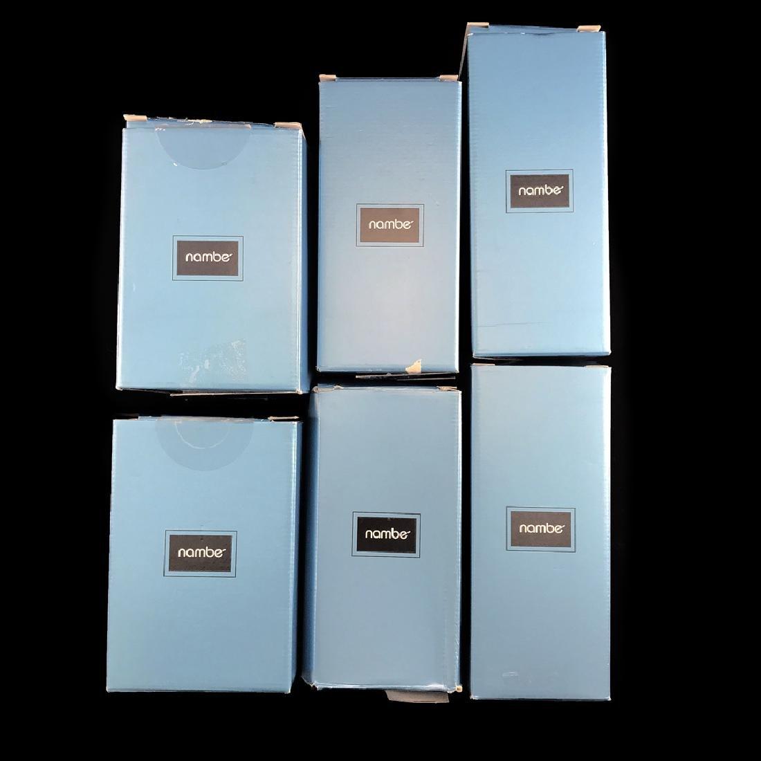 6 Zeisel Nambe Crystal Goblets, 3 sizes (2008) - 8