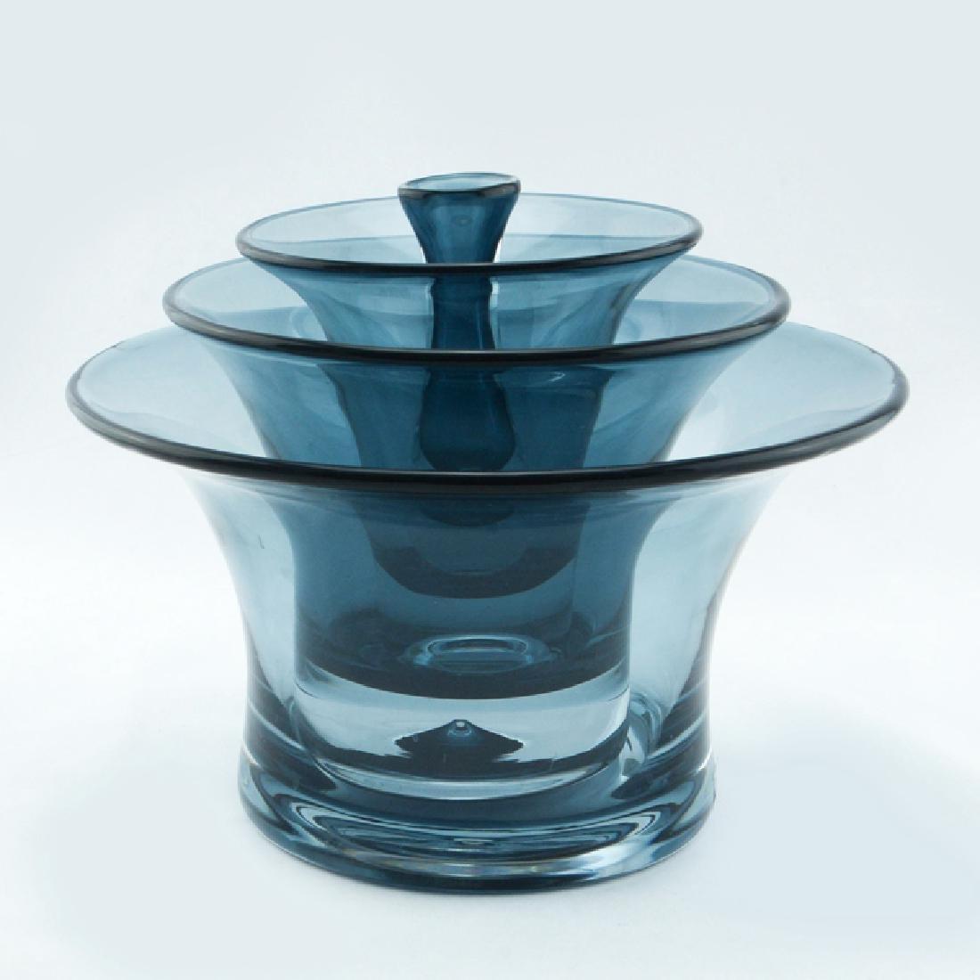 Zeisel Nambe Ohana Nesting Glass Vases
