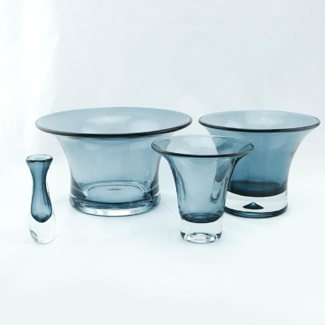 Zeisel Nambe Ohana Nesting Glass Vases - 2