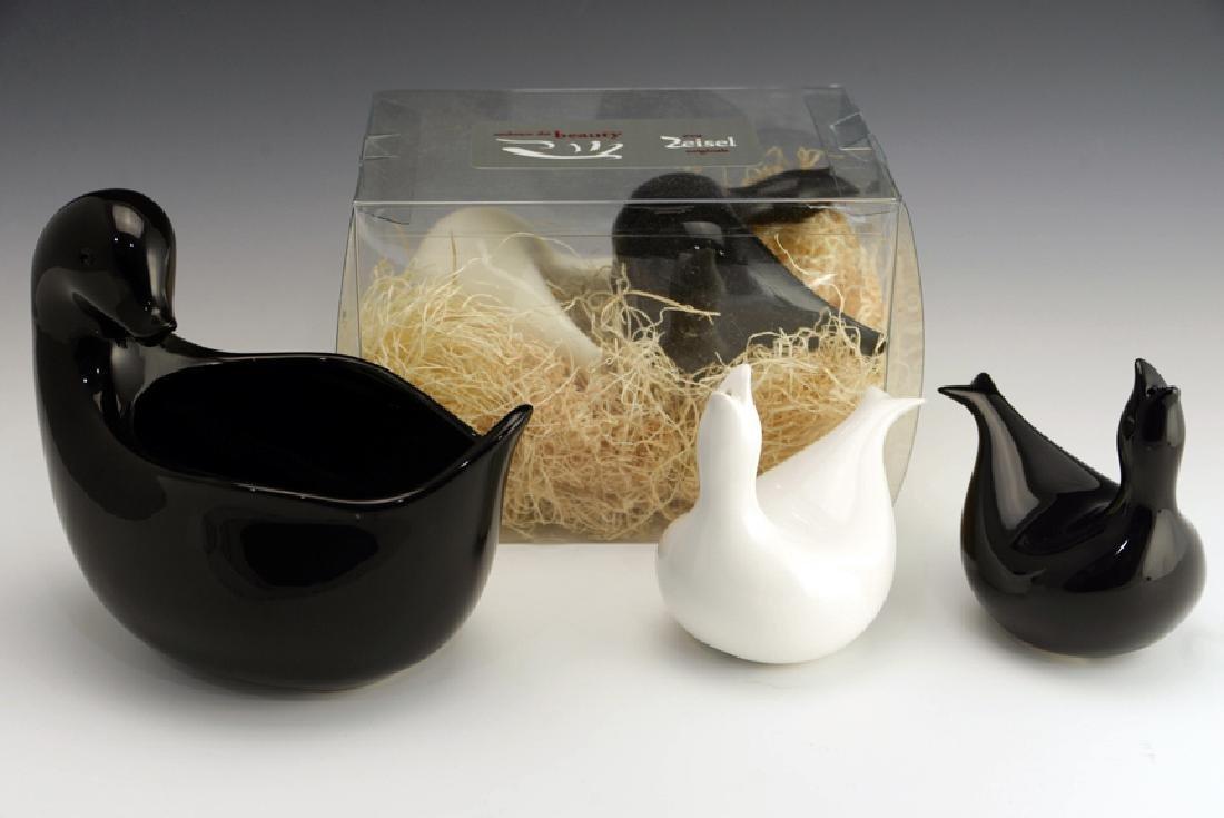 5 Zeisel EZO Bird-Form Shakers & Vase - 2