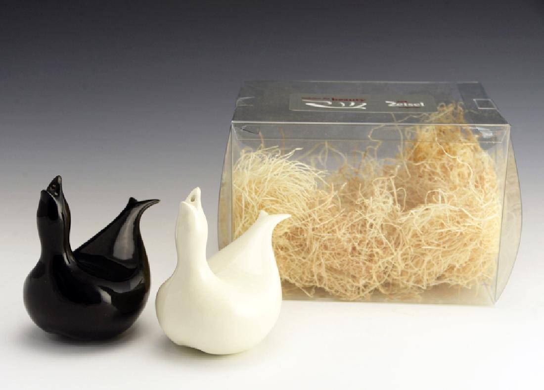 5 Zeisel EZO Bird-Form Shakers & Vase - 3