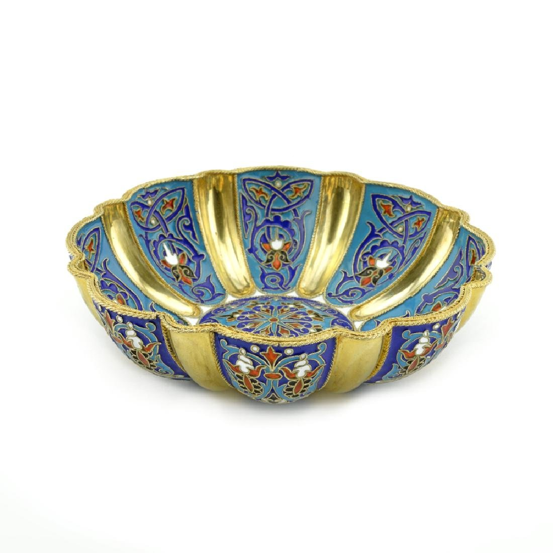 Khlebnikov cloisonne enamel bowl