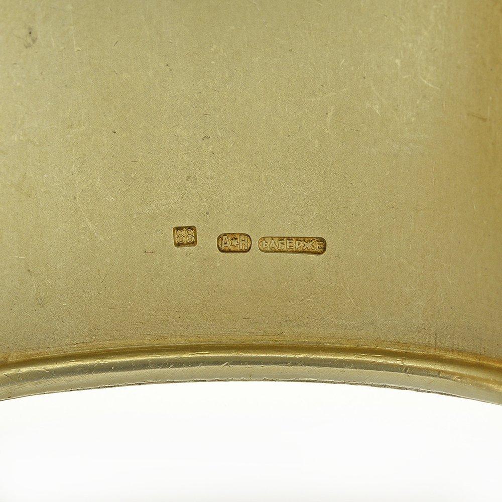 Faberge oval silver cigarette case - 5