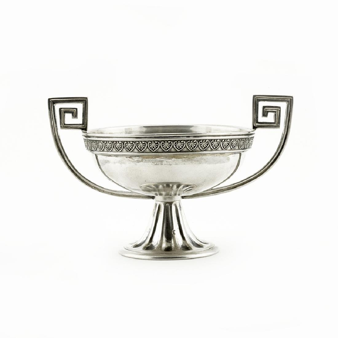 Faberge silver two-handled open salt