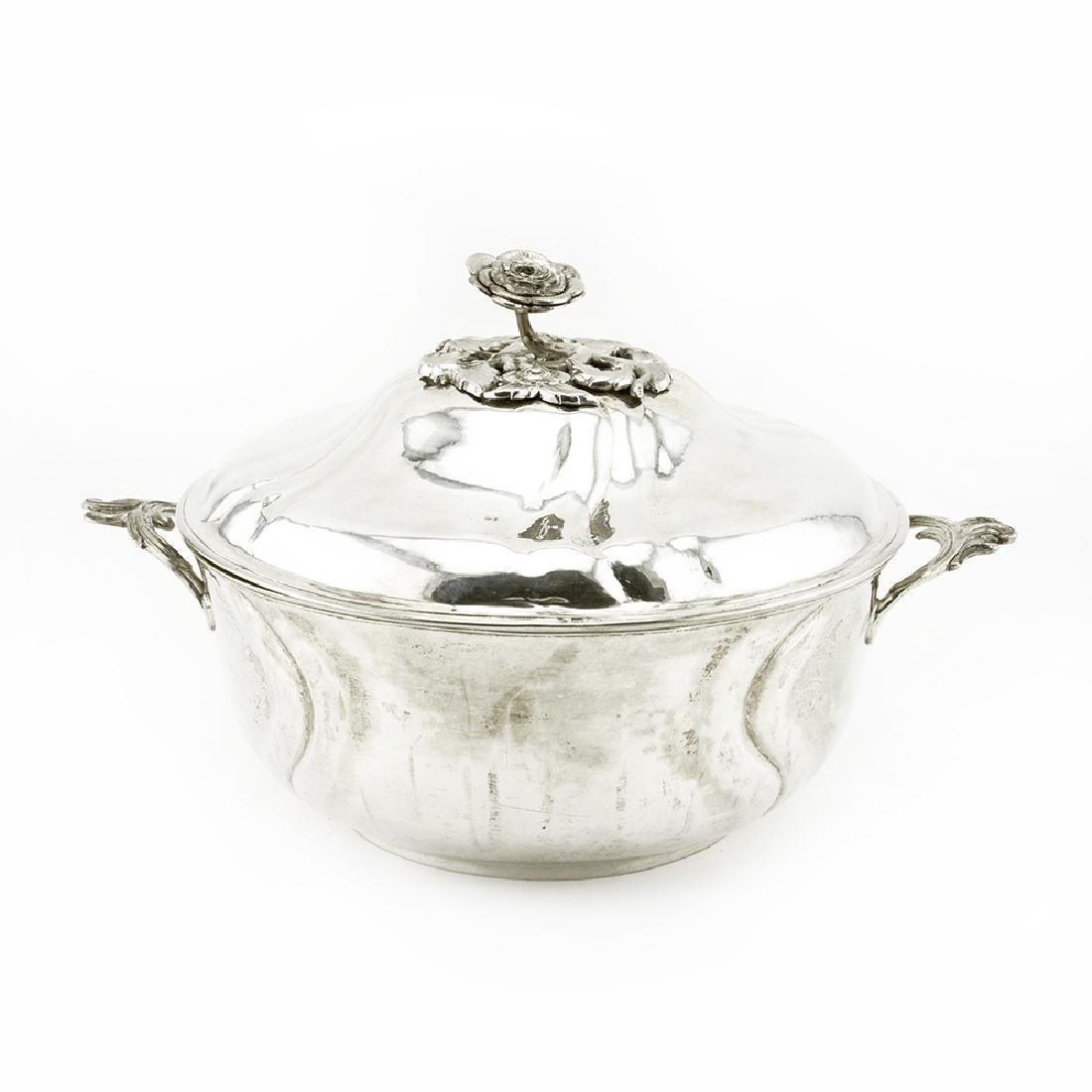 Russian 1775 silver covered tureen