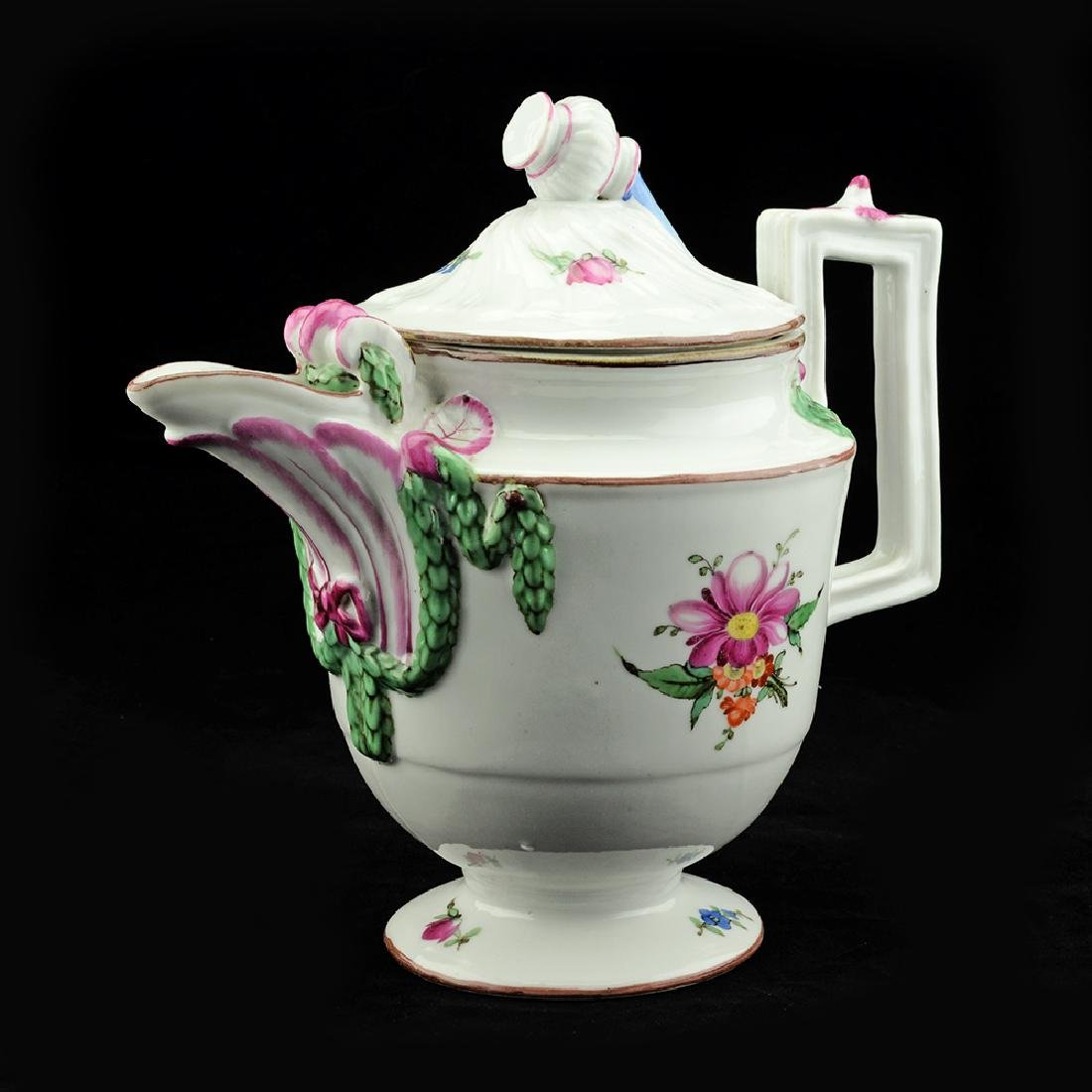 Rare Gardner Porcelain Coffee Pot 1780