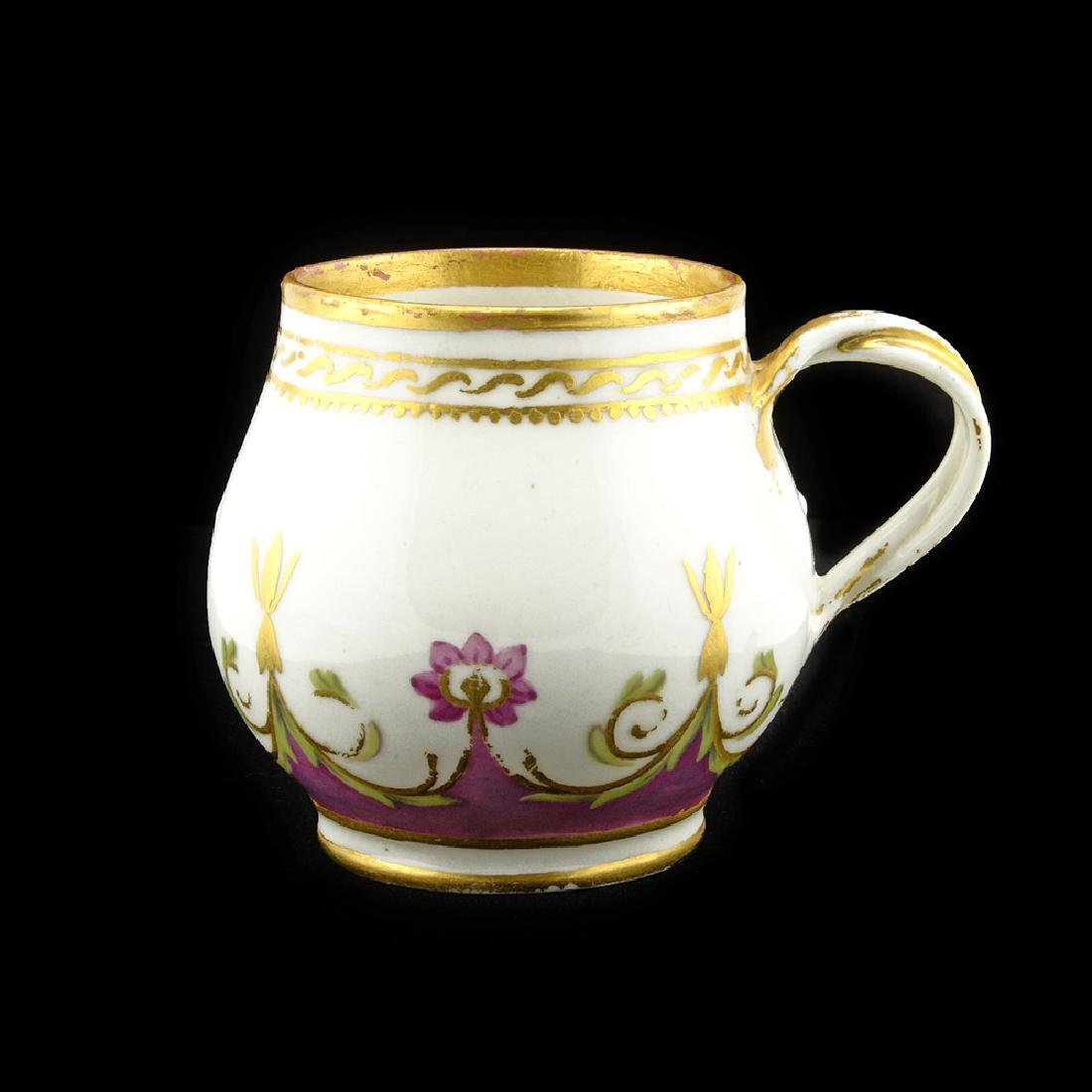 Russian Imperial Arabesque porcelain service ice cup