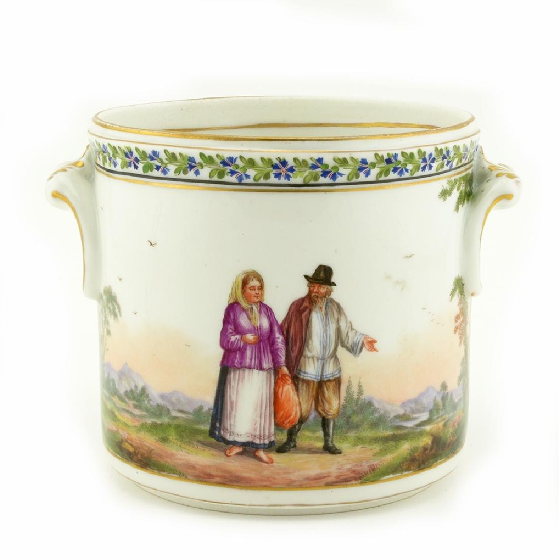 18thc. Russian porcelain cache pot
