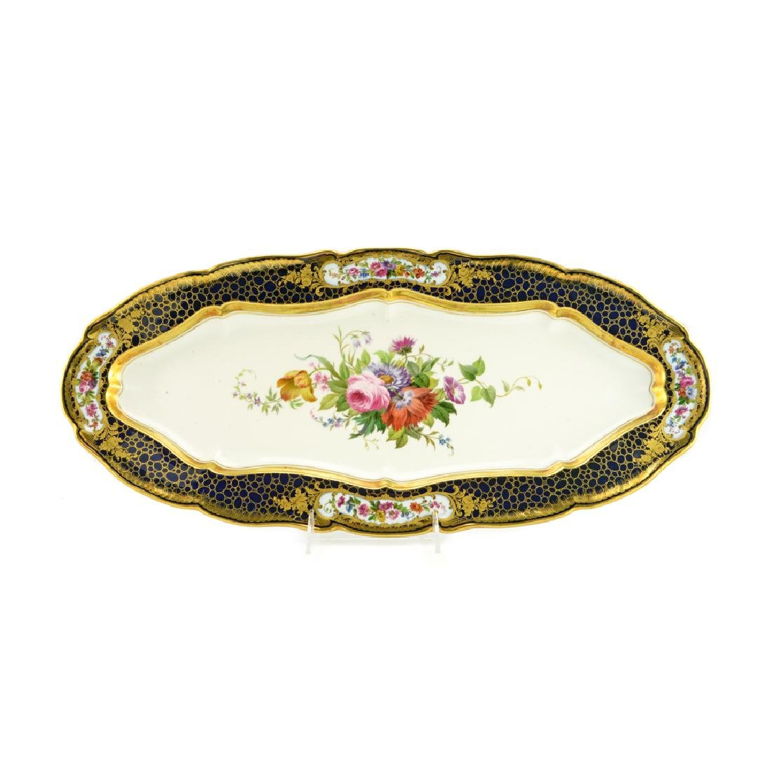 Large Russian Imperial porcelain tray