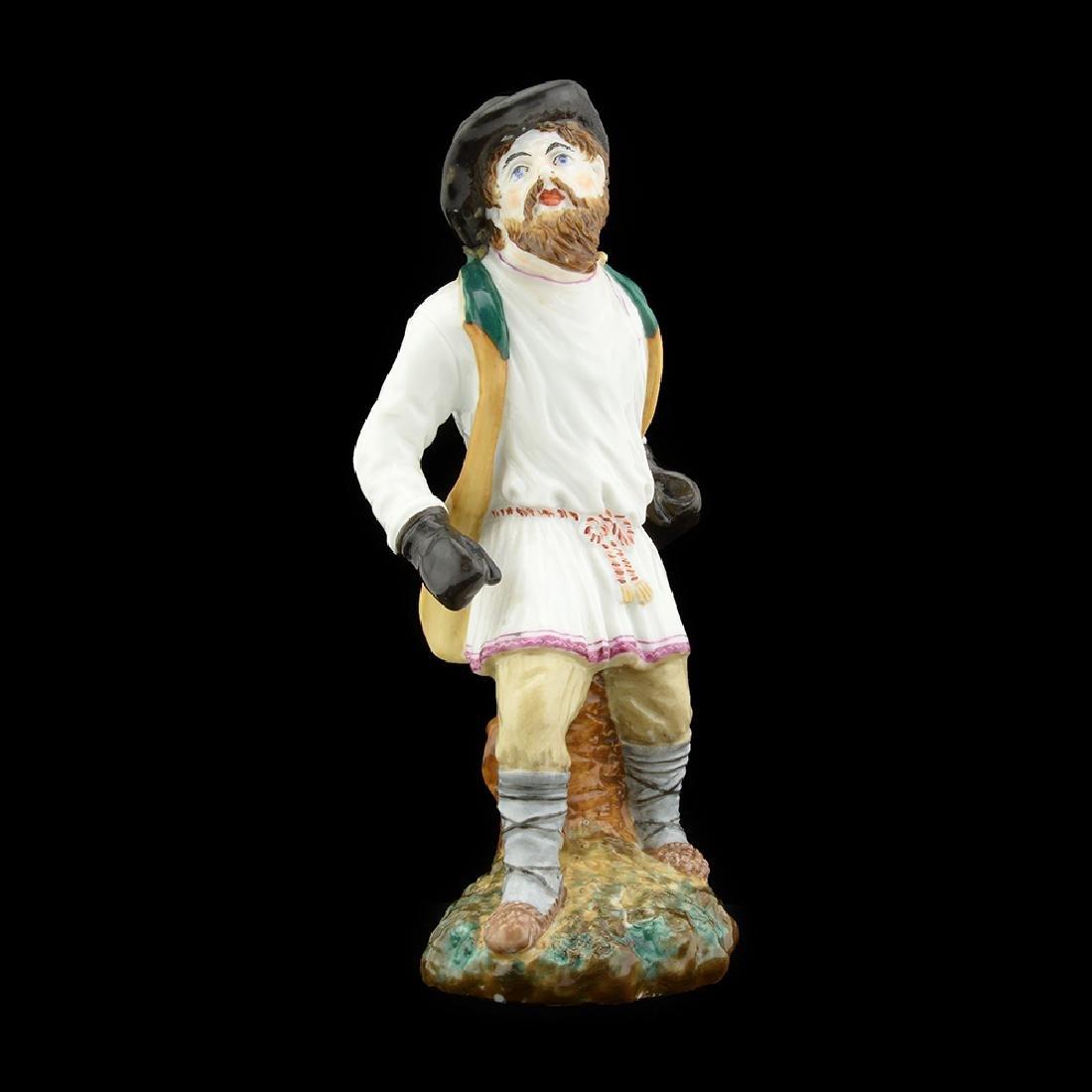 Russian porcelain peasant boxer figure