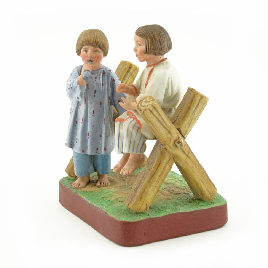Russian porcelain peasant children group - 2
