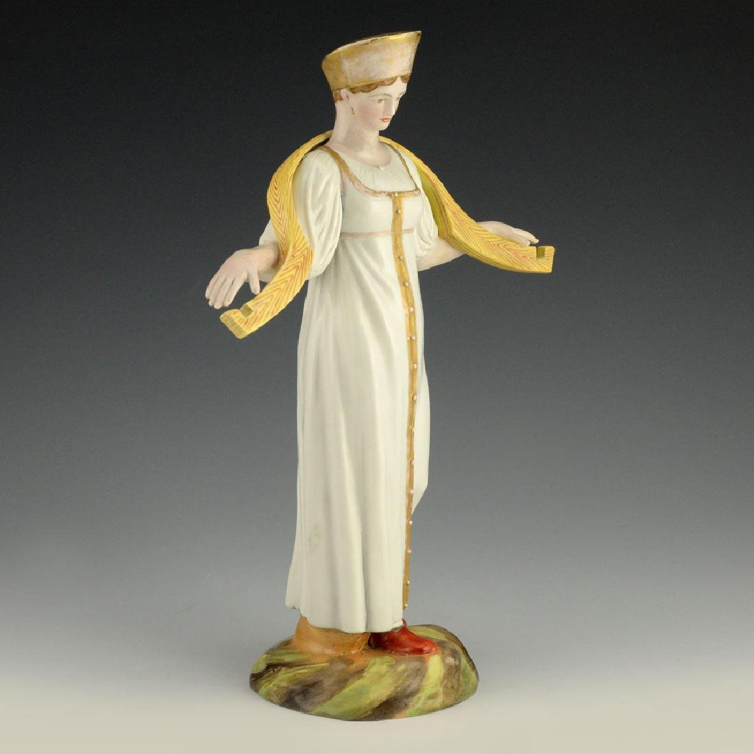 A Russian Gardner Porcelain Water Carrier Woman Statue - 2
