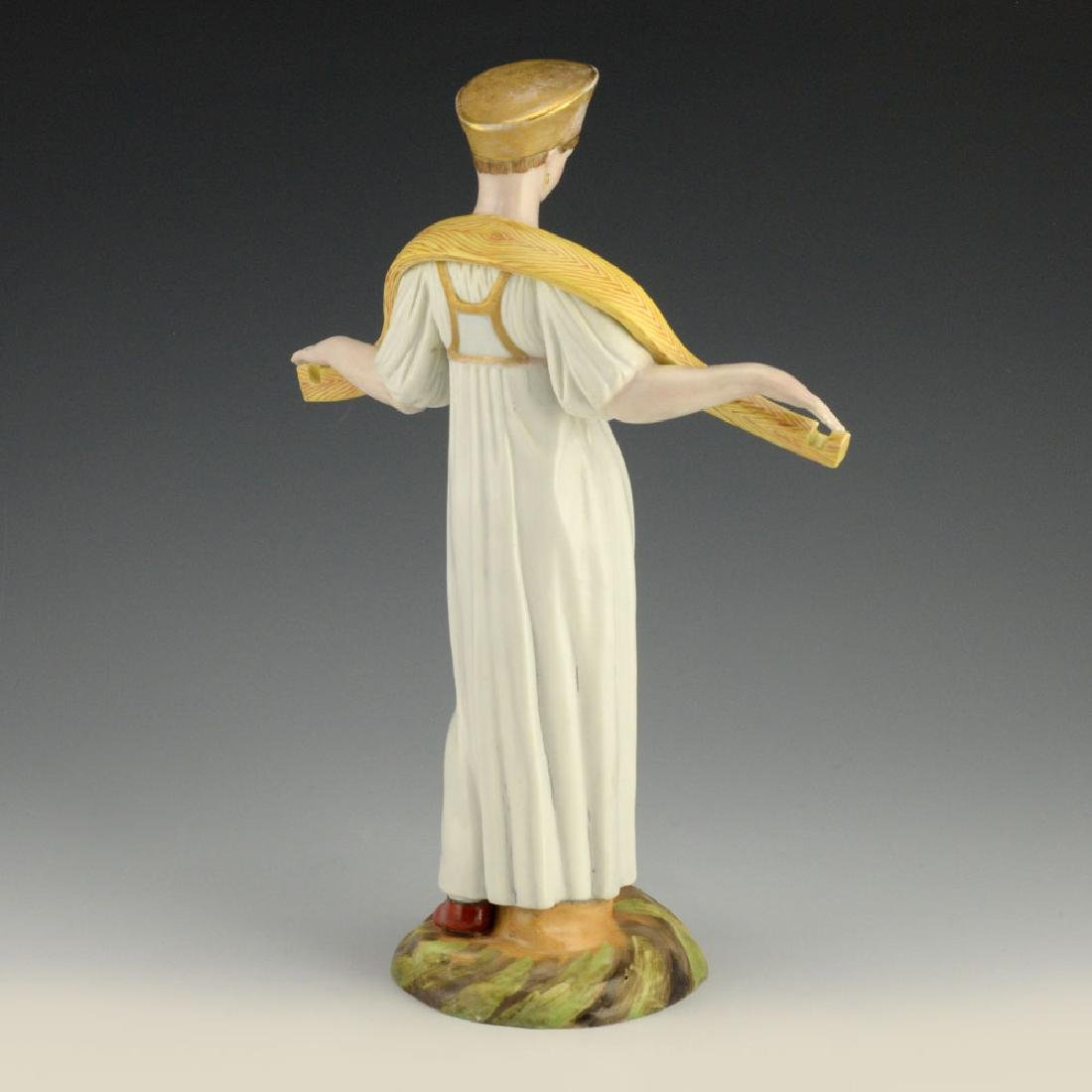 A Russian Gardner Porcelain Water Carrier Woman Statue - 3