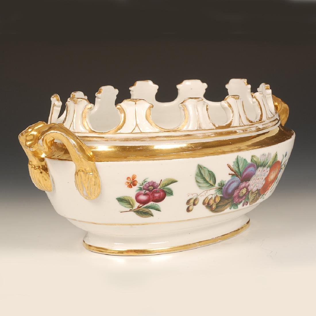 A rare Miklashevsky Factory porcelain wine glass cooler - 3